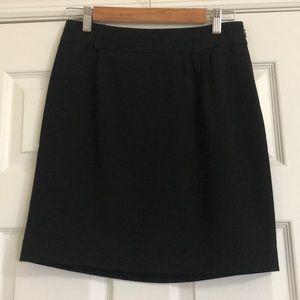 Black skirt-lined